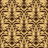 Seamless arabesque pattern in brown and beige — Stock Vector