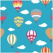 Colored hot air balloons seamless pattern — Stock Vector #59763099