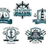 Nautival various heraldic designs — Stock Vector #59763103