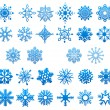 Cool blue snowflakes set — Stock Vector #59763199