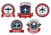 Aircraft and aviation banners — Stock Vector
