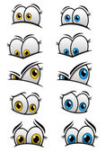 Cartooned eyes with different emotions — Stock Vector