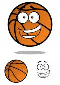Cartooned basketball ball with smiling face — 图库矢量图片