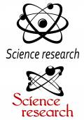 Science research emblems — Stock Vector