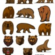 Grizzly and brown bear characters — Stock Vector #60258231
