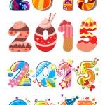 Children party 2015 numbers — Stock Vector #60258665