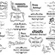 Christmas calligraphic lettering and headers set — Stock Vector #60258893
