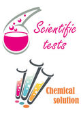 Chemical flasks and test tubes — Stock Vector