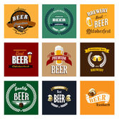 Brewery and beer labels or banners — Stock Vector