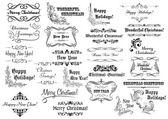 Christmas calligraphic lettering and headers set — Stock Vector