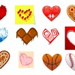 Colourful heart shapes set — Stock Vector #61520245