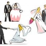 Wedding couples icons — Stock Vector #61520367