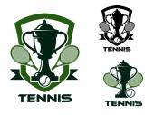 Tennis tournament badges and logo — Stock Vector