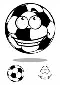 Soccer ball character with happy smile — Stock Vector