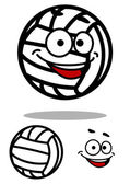Cartoon white volleyball ball character — Stockvektor