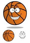Basketball ball cartoon mascot character — Stock Vector