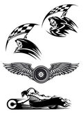 Black motocross mascot design — Vetorial Stock