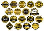 Taxi labels and banners set — Stock Vector