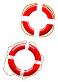 Life buoy icons on white — Stock Vector
