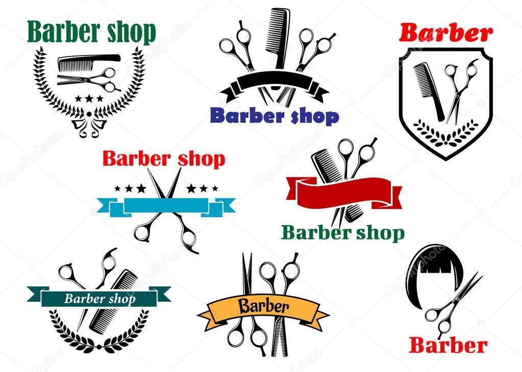 Barber shop chart of haircuts