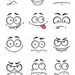 Постер, плакат: Cartoon faces with different emotions