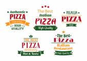 Pizza banners, labels and signs — Stock Vector