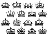 Royal or imperial crowns set — Stock Vector