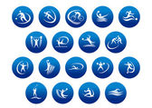 Athletics and team sport icons or symbols — Stock Vector