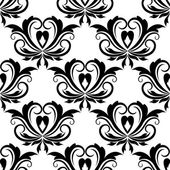 Retro seamless pattern with flourishes — Stock Vector