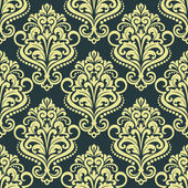 Dainty floral yellow seamless pattern — Stock Vector