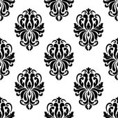 Classic black and white damask seamless pattern — Stock Vector