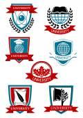 University emblems and symbols — Stock Vector