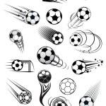 Football or soccer motion balls set — Stock Vector #62641015