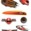 Car racing and motorsport symbols — Stock Vector #62641149