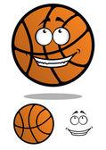 Cartoon funny orange basketball ball — Stock Vector