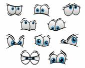 Big blue eyes in cartoon or comic style — Stock Vector