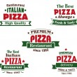 Italian pizza restaurant logo or banner designs — Stock Vector #63239441