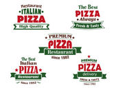 Italian pizza restaurant logo or banner designs — Stock Vector