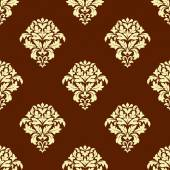 Seamless brown and beige pattern — Stock Vector