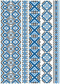 Ethnic embroidery patterns and borders — Stock Vector