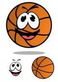 Basket ball personaggio per disegno della mascotte dei cartoni animati — Vettoriale Stock
