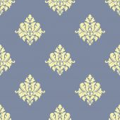 Sparse seamless pattern of victorian florals — Vector de stock