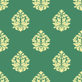Seamless flourish pattern with dainty buds — Stock Vector
