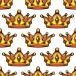 Cartoon emperor crowns seamless pattern — Stock Vector #63804003