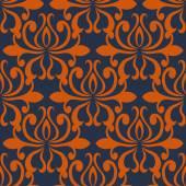 Large busy bold arabesque seamless pattern — Stockvektor