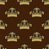 Seamless background pattern of a heraldic crowns — Stockvektor