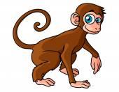 Cartoon brown monkey character — Stock Vector