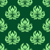 Dark and light green floral seamless pattern — Stock Vector