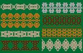 Celtic linear borders and ornaments — Stockvektor