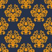 Retro orange floral seamless pattern — Stock Vector